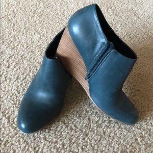Nine West Blue Wedge Booties